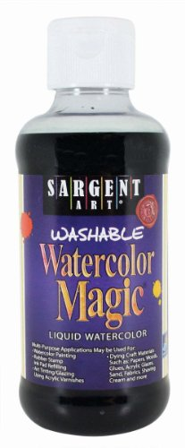 Sargent Art 22-6085 8-Ounce Watercolor Magic, Black