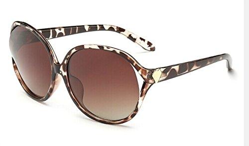 kengbi Nuevo hogar y Universal al Aire Libre. Gafas de Sol de Marco Redondo Grande (Frame Colour : Leopard)