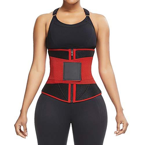 MASS21 Damen Latex-Korsett, Taillen-Trainer, Doppel-Sauna-Bänder, abnehmbare Unterbrustmieder für Gewichtsverlust, Rückenstütze -  -  Klein