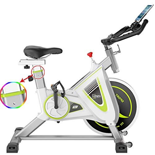 Bicicletas de Spinning Ejercicio for Mujeres Hombres magnéticas Oficina Fitness Equipment Interior de Acero Deportes (Color : Blanco, Size : 109 * 56 * 113cm)