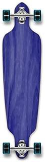 Yocaher Blank and Checker Complete Drop Through Skateboards Longboard w/Black Widow Premium 80A Grip Tape Aluminum Truck ABEC7 Bearing 70mm Skateboard Wheels