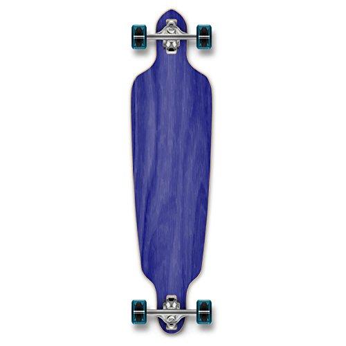 Yocaher Blank (Natural) Complete Drop Through Skateboards Longboard w/Black Widow Premium 80A Grip Tape Aluminum Truck ABEC7 Bearing 70mm Skateboard Wheels Wood Color