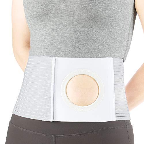 REAQER Stomagürtel Stoma-Bandage für Damen und Herren mit Lochdurchmesser 8cm (L)