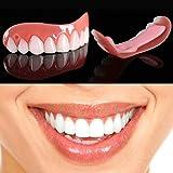 XIAOCUI 12 pcs Dentadura,simulación de Silicona Superior E Inferior Reutilizable para Adultos Dentadura Set Cosméticos, on Smile Blanqueamiento De La Fit