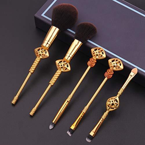 HZD Makeup Brushes Set Series Retro Style 5Pcs Thanos Hand for Powder Eyeshadow Eyebrow Brushes,B