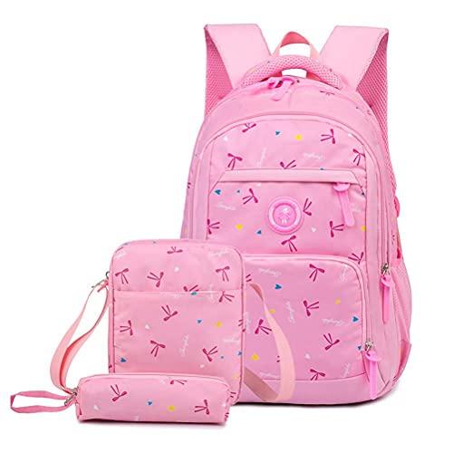 WYZXR Neue süße Schultaschen Bookbag Set für Teen Mädchen Grundschüler wasserdichte Leichte Grundschule Reisetasche, Schulrucksäcke