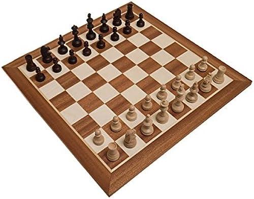 ROMBOL Schachset 'Vincent in Stockholm', Schachbrett (FG 50) mit Figuren (KH 78) in einer Figurenbox, Holz