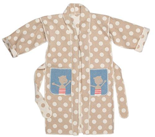 David Fussenegger Kimono Punkte/Äffchen 7-9 Jahre, Baumwoll-Mischgewebe, Natur, 90 x 51 cm