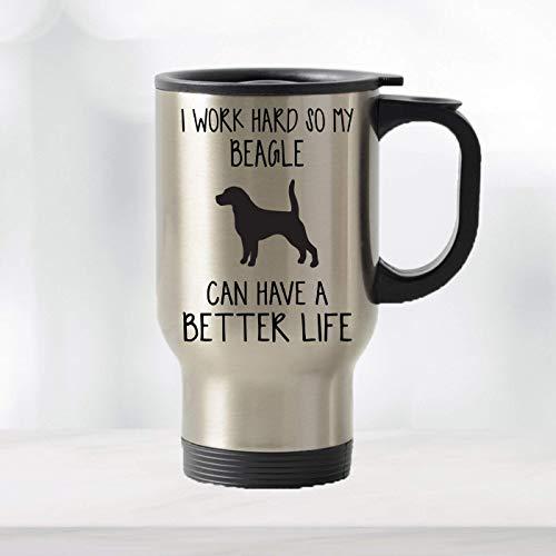 Beagle Emblem on Clear Traveler 22 Oz Tumbler Mug with Lid