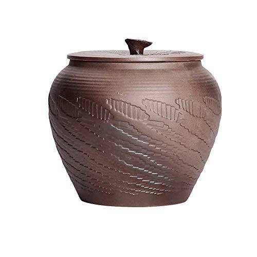 Speicherkeramik-Keramik-Keramik-Getreide-Container-Kanister-Keks-Glas mit LIDs Große, luftdichte Lebensmittel-Speichercontainer-Behälter für K Pantry-Organisation Mehl-Reis-Candy-Bulk, 1.2L, 2.5L Lebe