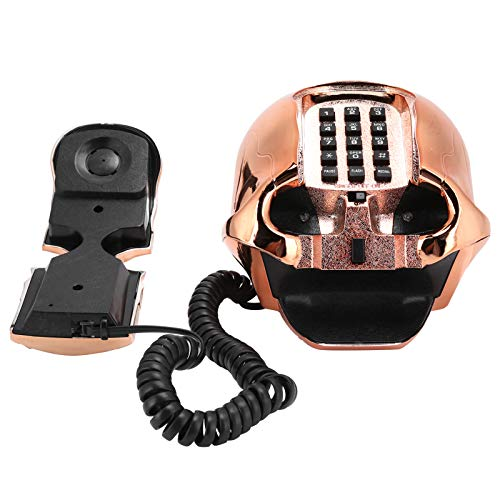 YOUTHINK Innovador y Divertido teléfono de Halloween, decoración del hogar portátil con luz LED, cableado de EE. UU. / Reino Unido, marcación de Botones de Calidad de Llamada de Alta definición