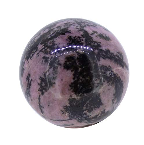 budawi-Deko & Schönes Rhodonit Edelstein Kugel 3 cm, Dekokugel aus Rhodonit