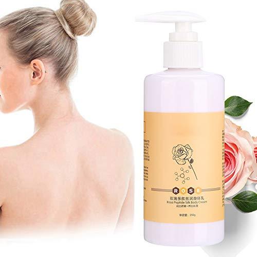 Lait pour le corps, lotion pour le corps à la rose, lotion pour le corps au peptide de rose hydrate les crèmes nourrissantes pour le corps hydratant peau douce pour soins de la peau 250g