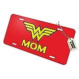 Graphics and More Wonder Woman Wonder Mom Logo Novelty Metal Vanity Tag License Plate