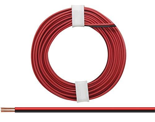 Donau Elektronik 218-5 Doppeldraht rot-schwarz 5 m, mehrfarbig