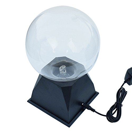 LEDMOMO Ball Lamp Sensitive Magic Plasma Touch Sphere Globe Lightning Novedad Juguete para niños con Enchufe de la UE Azul Claro 8 Pulgadas