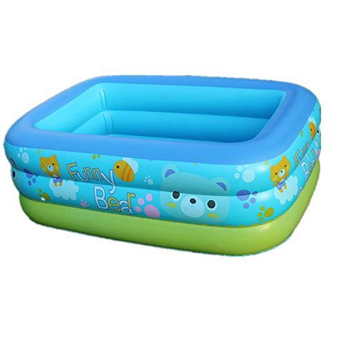 DAYUAN Piscina Infantil Hinchable Rectangular Redonda,Piscina para niños, Piscina inflable-210 * 150 * 60 cm,Piscina Familiar Swim Center Piscina para niños