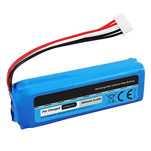 Ersatz Akku kompatibel für JBL Charge 3 BL GSP1029102A Li-Polymer 6000 mAh 3,7 V