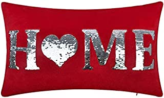 OiseauVoler Red Throw Pillow Cases Decorative Cushion Covers Pillowslips Rectangular Home Bed Sofa Room Decor 12x20 Inch