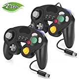 Wired Controller for GameCube Nintendo Switch, 2 Pack Wired Classic Game NGC Controllers for Wii Nintendo Super Smash Bros Ultimate with Turbo Function (Black)
