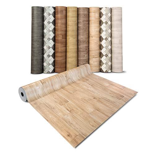Pavimento PVC Adesivo - Rivestimento Pavimento Finto Legno, Parquet - Copri Pavimento Vinilico a Rotolo, Su Misura - 200x300 cm - Rovere chiaro