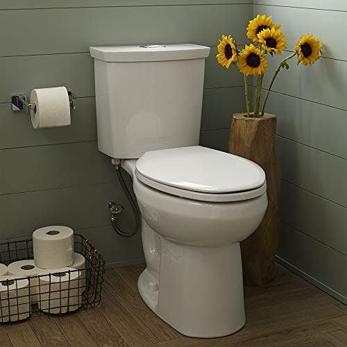 American Standard 2886218.020 H2Option Dual Flush Right Height Elongated Toilet 0.92/1.28 gpf, White