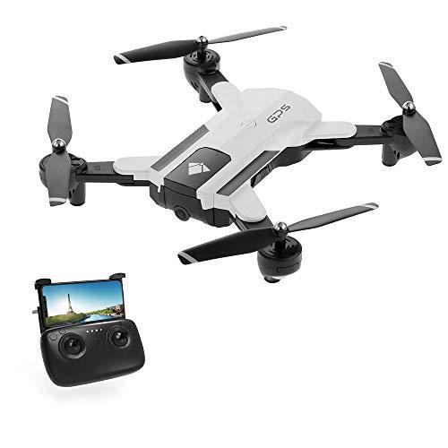 Entweg Drone, Sg900-S GPS Drone RC con Telecamera 1080P WiFi FPV Follow Me Surround Mode Multi-Point Fly Altitude Hold Pieghevole RC Quadcopter