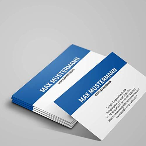 Visitenkarten, prinux, Professionell, 150 Stück, 400g-Karton, mit Wunschtext - Text, Schriftart und Farben sofort online anpassen, inkl. Visitenkartenbox…