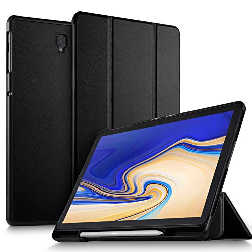 ELTD Case Cover voor Samsung Galaxy Tab S4 10.5 T830N / T835N, Ultra Slim Silm Stand Function Smart Hard Cases Cover Case, (zwart)