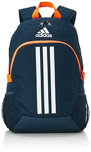 adidas Jungen BP Power V S Rucksack, Mehrfarbig (Crew Navy/White/Screaming Orange), One Size