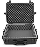 Casematix Waterproof DJ Mixer and Accessories Case Compatible with Zoom LiveTrak L-12 12 Channel Digital Audio Mixer And Recording Accessories, Dense Absorbing Foam with Rugged Shell