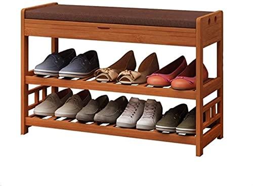 KCGNBQING Zapato estante zapatería familia zapatos sencillos y prácticos zapatos zapato zapato zapato zapato almacenamiento bolsa de almacenamiento sólido bambú puerta puerta familia simple práctico z