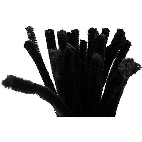 Creativ 100263 Lot de 25 cure-pipes épaisseur 9 mm L 30 cm Noir