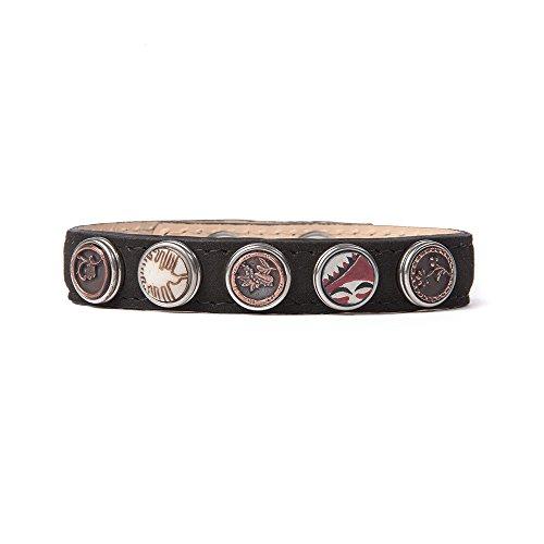 Noosa Armband Wrap Bracelet Petite Classic Skinny (5 Chunkhalterungen) black, Grösse:M