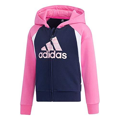 adidas LG St Ft HDY Sweat-Shirt Unisexe pour bébé, Mixte bébé, Maillot de survêtement, GP0414, Multicolore - Rose/Blanc (Roschi/Maruni), 1 año