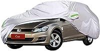 車カバー フォルクスワーゲンゴルフカーカバー太いオックスフォード布サンプロテクション雨やダストカバーカーカバー衣料品と互換性のカーカバーカーカバー防水透湿性 カーカバー (Color : Silver)