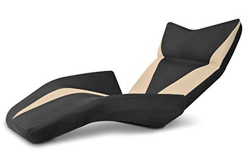 座椅子型リクライニングソファ マンボウソファ デルタV 14段ギア メッシュ生地 ベージュ