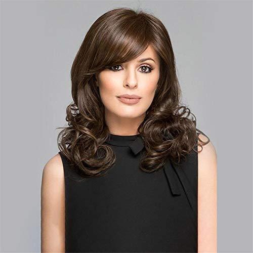 Qi bangs femmes cheveux longs bouclés_Perruques européennes Qi bangs femmes cheveux longs cheveux bouclés moelleux gros cheveux bouclés ondulés teints perruque de fibre synthétique en gros