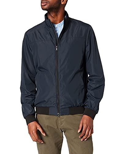 Geox Mens M JHARROD Bomber-POLYESTERE Jacket, Blue Nights, 46