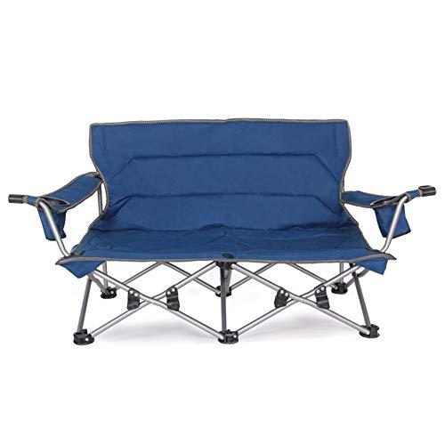 BESTSOON-AJ Folding Chair Camp Portable Double Director's Stuhl Falten atmungsaktive Mesh Aluminium Camping Angeln Gartenstuhl