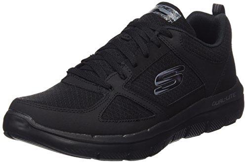 Skechers Herren Flex Advantage 2.0-Lindman Sneaker, Schwarz (Black), 42 EU