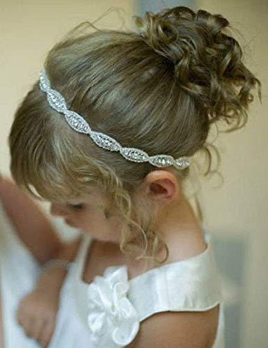 Missgrace Haarband für Mädchen, Blumenkind, mit Strasssteinen, Gatsby-Stirnband, Hochzeits-Zubehör, für Festivals, besondere Feiertage, Weihnachten, Halloween