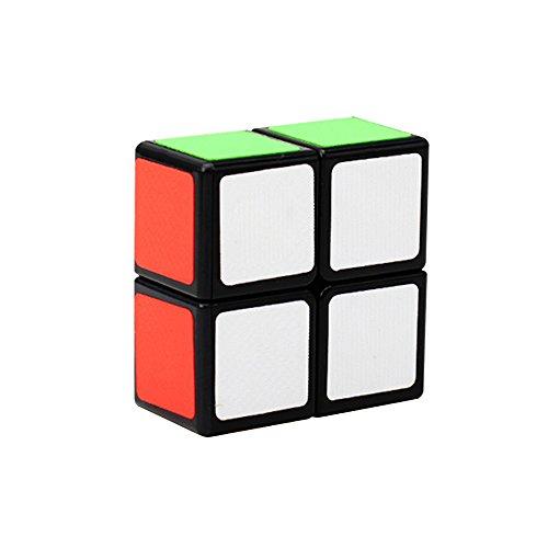 Wings of wind - Suave y Velocidad 1x2x2 Magic Cube Floppy 1x2 Sticker Puzzle Cube (2 x 2 x 1 Pulgada) (Negro)