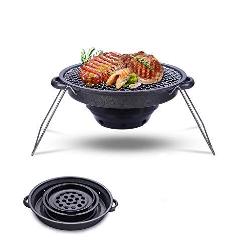 HWHS219 Barbecue Draagbare MINI Grillplaat Roker Gratis IJzeren Vouwen Buiten Binnen Keuken Tafelgrill Geschikt voor Familie Verzamelingen Camping