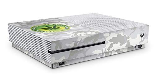 Design Aufkleber Skin Vinyl Schutzfolie kopatibel mit Xbox One S Addict White Camo