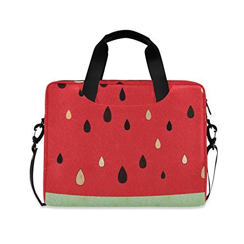 RELEESSS Laptop Sleeve Watermelon Fruit Laptop Handbag Briefcase Messenger Carrying Case Bag Adjustable Shoulder Strap for 13-16 Inch
