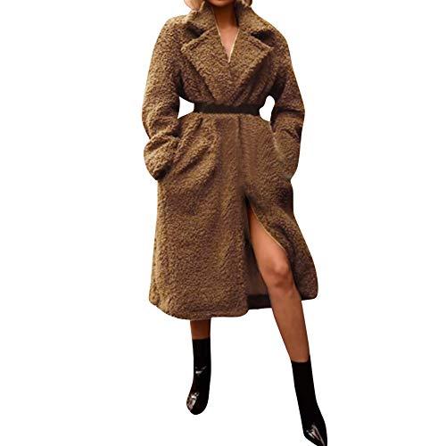 FRAUIT dames pluche jas button gebreide jas Cardigan lange parka mantel gewatteerde jas warme outwear ritssluiting lange mouwen effen sexy parka S-4XL