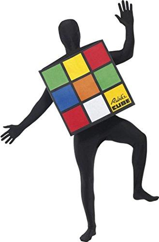 SMIFFYS Smiffy's - Costume da cubo di Rubiks per Adulti, Unisex Multi Taglia Unica