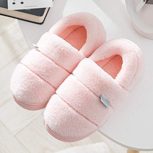 zapatillas casa hombre divertidas,Zapatillas de algodón para mujer invierno más bolso de terciopelo para el hogar con hogar otoño e invierno suela gruesa interior antideslizante calidez felpa zapatos