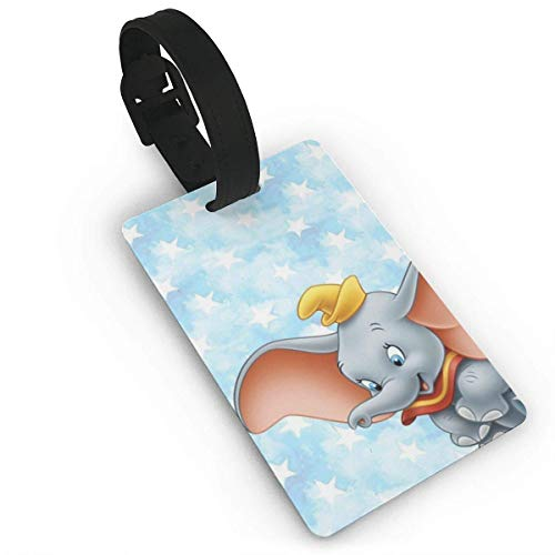 Dumbo Cute Luggage Tag Adjustable Strap Bag Baggage Name,Accessories Tags for Tourists